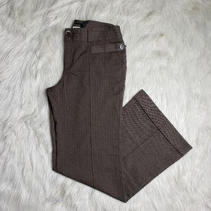 Cartonnier Brown Wide Leg Trousers Dress Pants